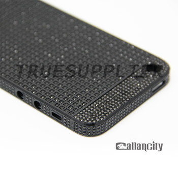 Luxury Black Gold Case Cover Housing Full Of Crystal Replacement For Iphone 5 Body
