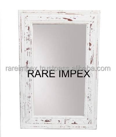 Distressed White Wooden Mirror Frames - Buy Distressed White Wooden ...