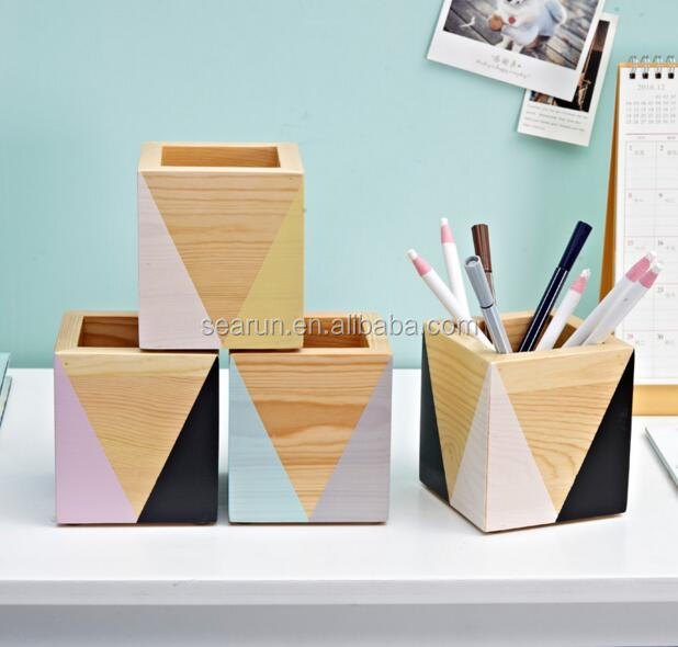 Christmas Gift Wooden Pencil Box For Table Decoration Child Use