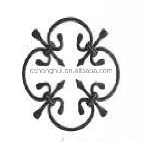 Beautiful aluminum stamping flowers and leaves for door/gate