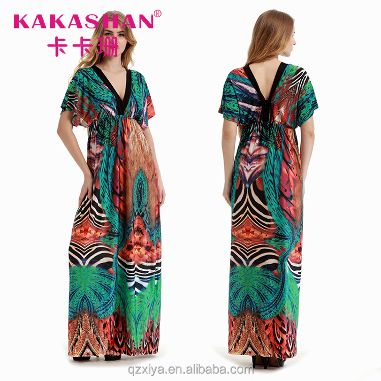 Printed Slit Boho Chic Maxi Dresses From Thailand