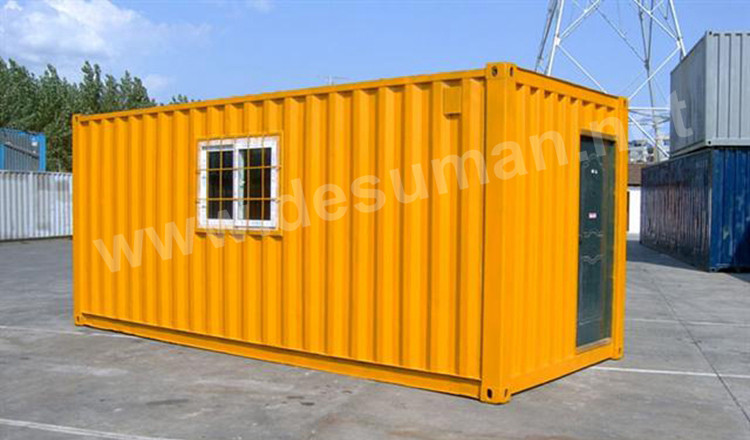DESUMAN ready made aluminum cargo poultry living 20ft prefabricated trailer house cafe toilet office cabin container home