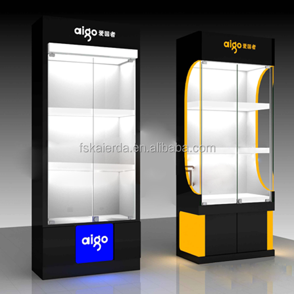 Retail Wall Mount Glass Display Cabinets/wall Mounted Glasses ...