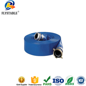 10 inch diameter 4bar work pressure pvc lay flat hose