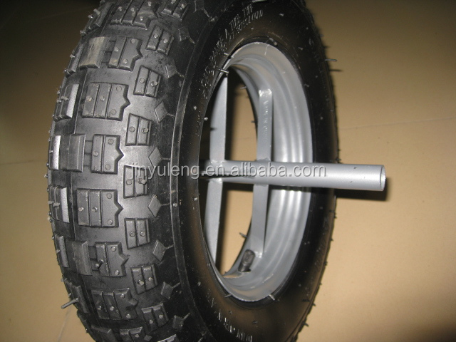 "pneumatic rubber wheel tyre 16""x4.00-8"