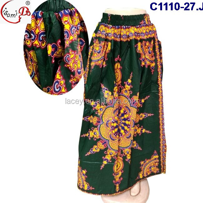 2017 Top Fashion Wax Print Fabric for Party African Wax Skirt C1110