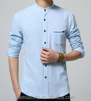 13e7b9e0b600 Latest Summer Shirt Cotton Linen Chinese Mandarin Collar Mens Shirts ...