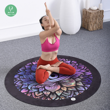 Custom Printed ECO Yoga Mats with Bag Exercise Rubber ECO friendly Round Yoga Mat