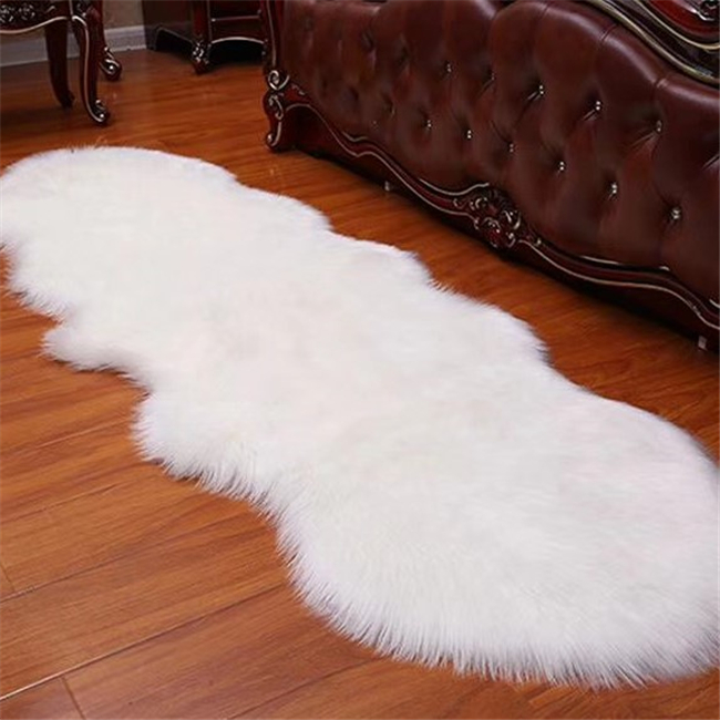 Plush washable living room faux fur shaggy carpet rug