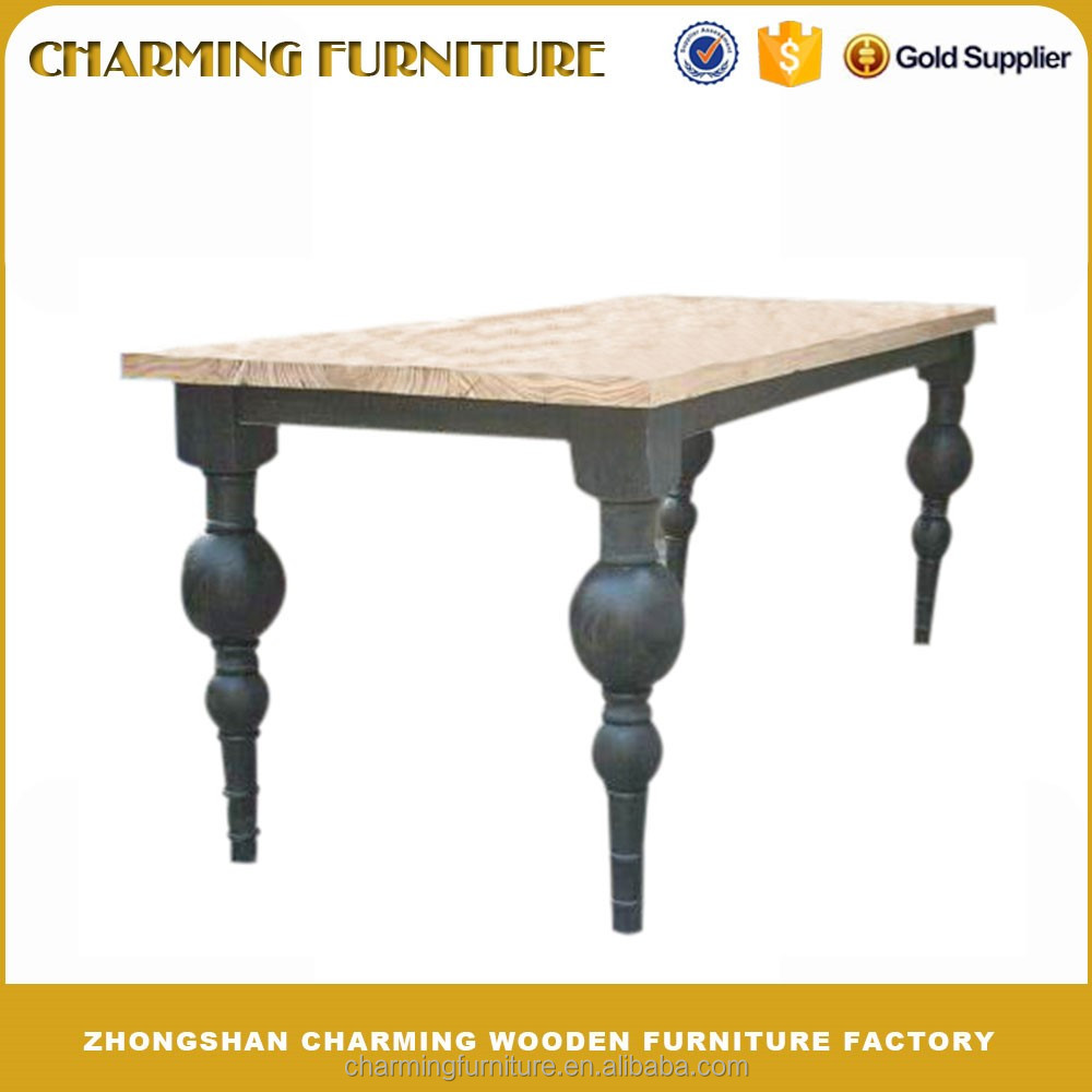 European Style Dining Room Furniture, Rectangular Wood Table #6131