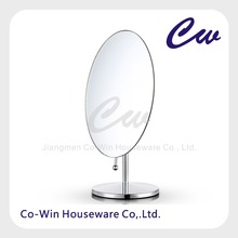 Tabletop Vanity Makeup Mirror for Bathroom & Bedroom, Oval, Chrome plating