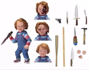 Factory price NECA vinyl toy plastic Chucky doll Child's Play character Tiffany action figure DIY accessories doll gift toys