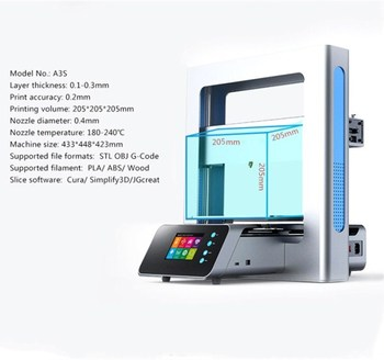 High Performance Self-Assembly DIY Desktop FDM Printer Multi Color 3D Printer Works with ABS/PLA Filamence Parts