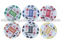 13.5g clay 8spots sticker poker chip