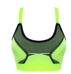 Fitness Camouflage shockproof no rims breathable sports cross bra with quick-drying mesh cloth