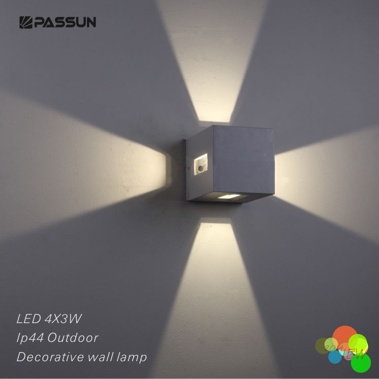 Surface Mounted Decorative Outdoor Led Wall Light 4 3w