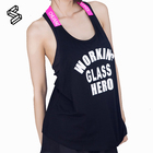 Newest Design High Quality see-through blouses Workout Clothing Cottony Soft Sexy Girls Tank Top For Yoga
