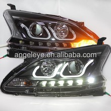 2012--2014 Year For NISSAN Sylphy B17 Sentra Angel Eyes LED Head Lamp head lights front light LF