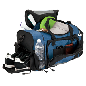 Wholesale large man travel duffel bag with shoe compartment