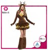 Custom made animal adult lady sexy costume soft dee costume for woman