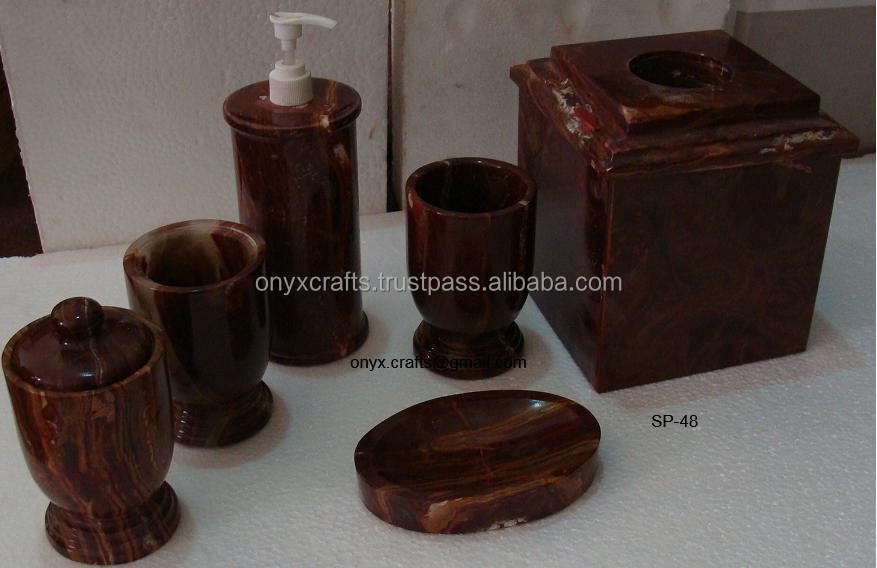 Red Onyx Bathroom Accessories
