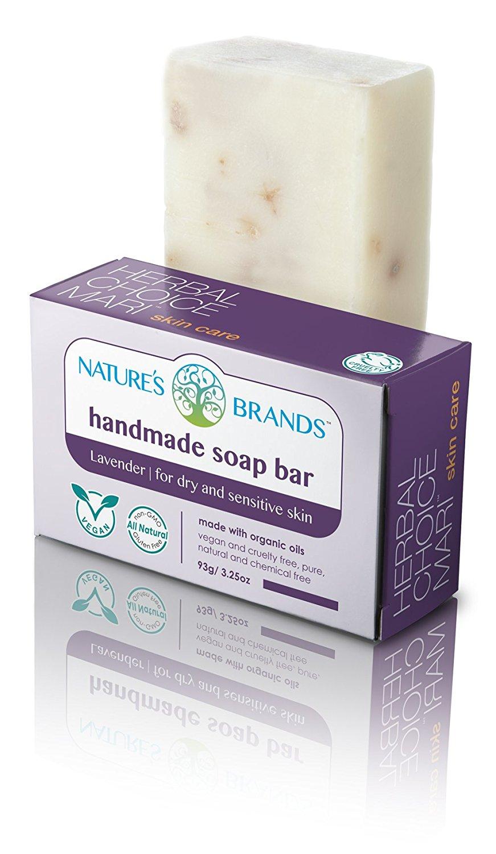 Herbal Choice Mari Natural Handmade Soap Bar, Lavender; 3.2oz