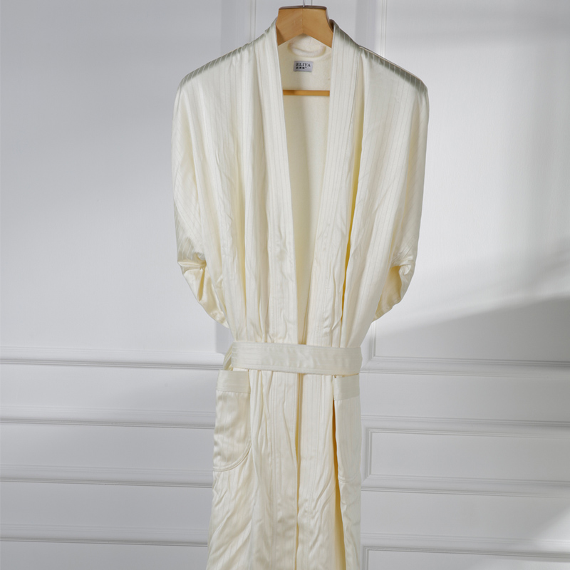 Embroidered Luxury Hotel White or Ivory Waffle Bride Wedding Robe Dressing Gown