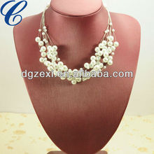 2013 Latest Necklace Costume Long Pearl Wholesale Chain Necklaces Imitation Jewelry Accessories