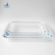 rectangle transparent glass baking dish plate for kitchen
