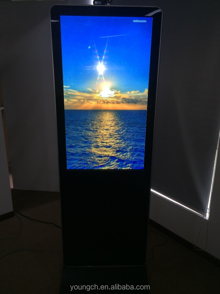 Vertical portrait screen for advertising with controllable content 42 inch touch screen kiosk totem lcd display