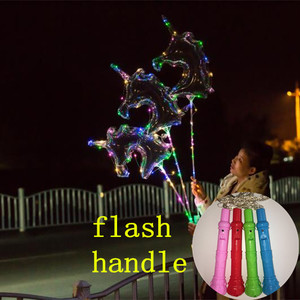 Bobo unicorn LED Light adjustable flash Balloon For Christmas Wedding Party Decoration valentine's day propose