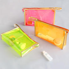 Easy carrying professional colorful waterproof travel PVC cosmetic makeup bag