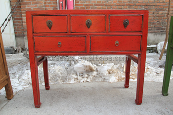 vintage oriental meubles console rouge table buy product on. Black Bedroom Furniture Sets. Home Design Ideas