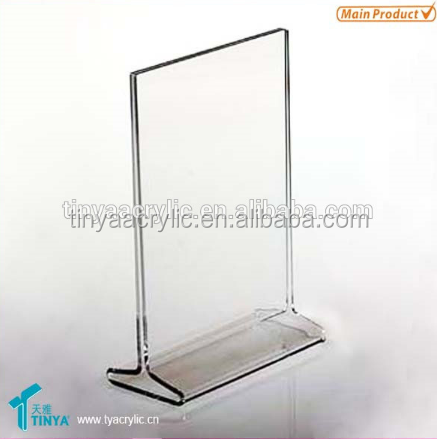"Desktop 11""x8.5""x2.5"" 3mm thick Deflect slant back brochure holder acrylic sign holder"