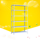Warehouse angle bar steel slotted glass storage bolt less rack system