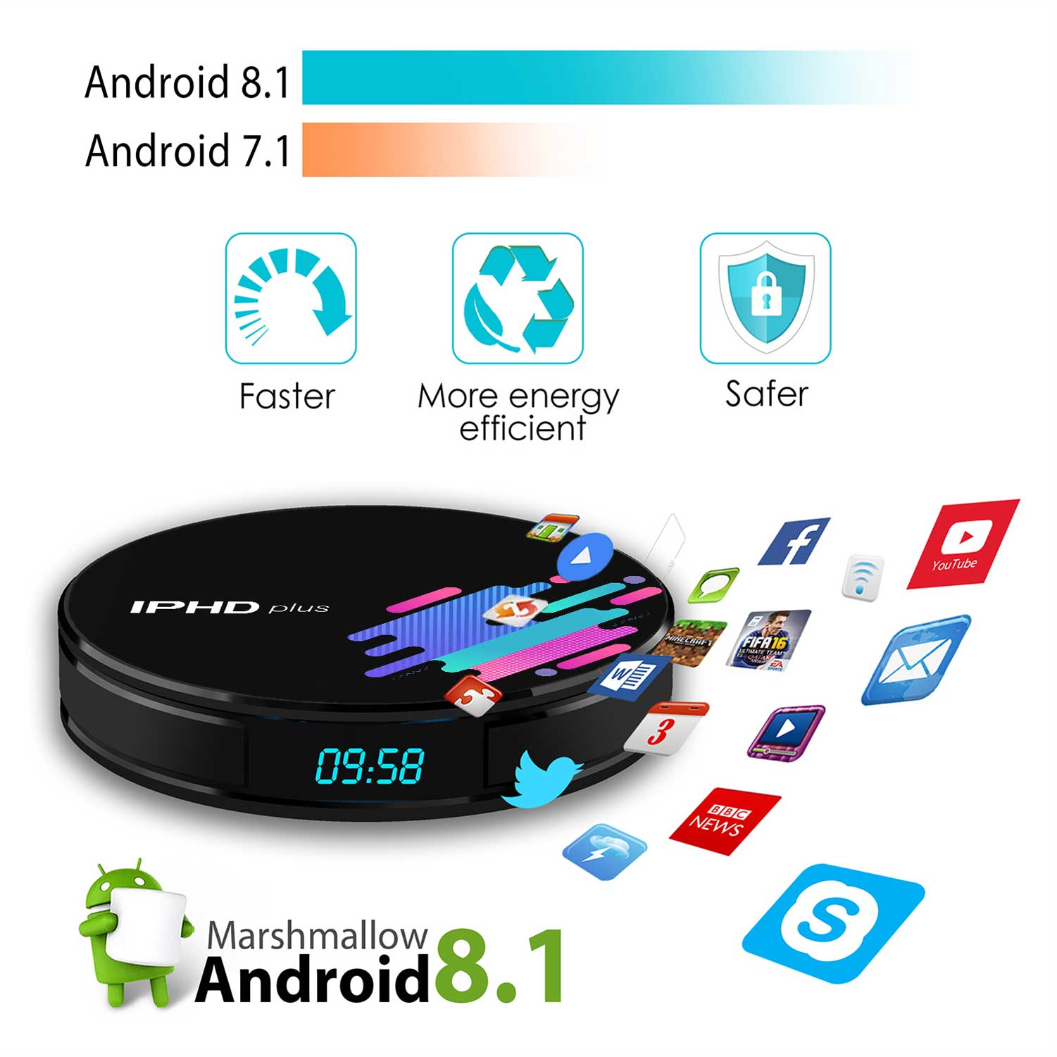 IPHD Plus S905X2 Android tv box IPHD plus Android 9.0 4+32GB 2.4/5G Dual WiFi Smart TV box