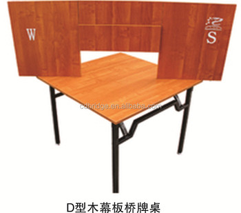 Lovely D Type Bridge Table With Wooden Screen