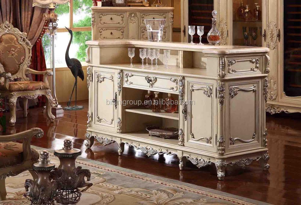 Furnishing carved wooden bar counter home bar designs bf09 - Disenos de barras de bar ...