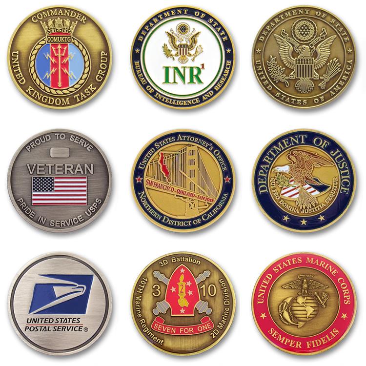 무료 샘플 사용자 정의 뜨거운 공장 직접 판매 라운드 키 링 탑 고품질 수호자 금속 동전