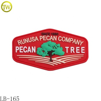 Manufacturer Custom Embossed Logo Garment Label Silicon Bag Rubber Patch