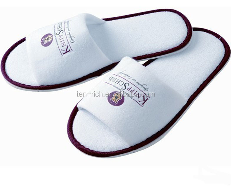 hospital velours lovely slippers with embroidery or printed logo