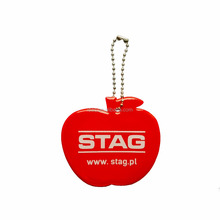 white logo apple custom reflex keychain