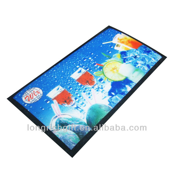 AY personalized nitrile rubber bar mat non woven fabric beer mat for bar using