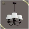 New products white fabric lamp shades pendant light, fancy fabric chandelier for home use