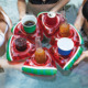 Drink holder inflatable pool float toys watermelon shape inflatable cup holder