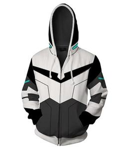 ecowalson Anime Cartoon Cosplay Hoodie 3D Printed Zipper Jacket Pullover Sweatshirt