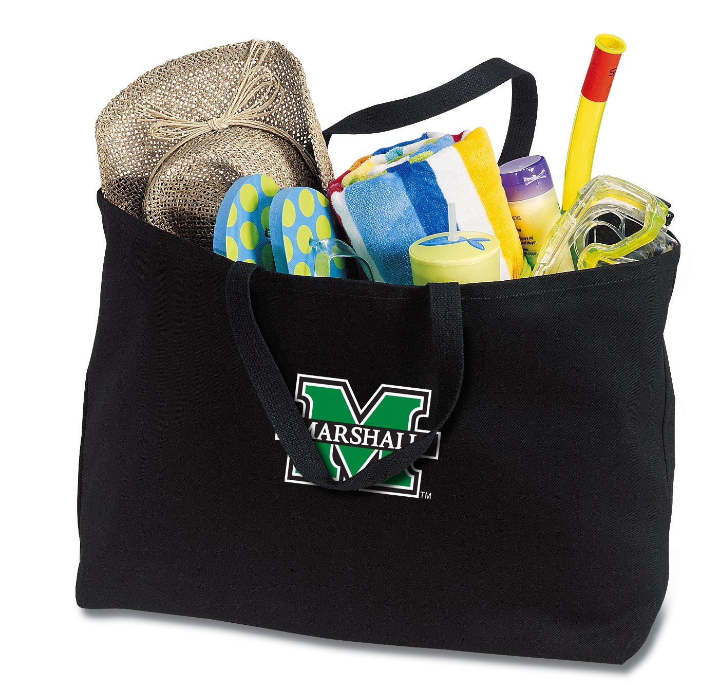 JUMBO Marshall Tote Bag or Large Canvas Marshall University Shopping Bag