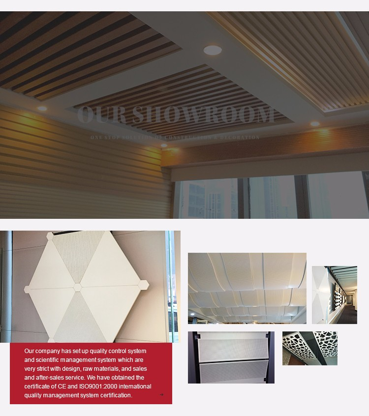 Decorative Metal Ceiling Tiles Perforated Suspended Ceilings