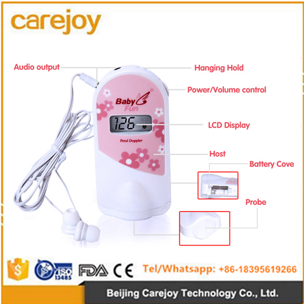 Best quality Fetal Heart Doppler fetal doppler ultrasound heart rate monitor for Pregnant Woman with CE&FDA Approved