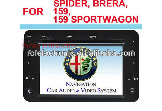 2 din auto multimedia dvd gps for Alfa Romeo 159 /Spider/Brera